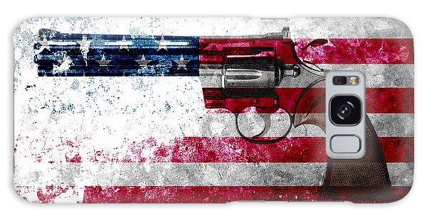 Colt Python 357 Mag On American Flag Galaxy Case