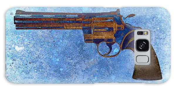 Colt Python 357 Mag On Blue Background. Galaxy Case
