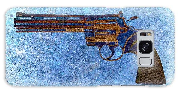 Colt Python 357 Mag On Blue Background. Galaxy Case