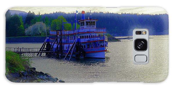 Swan Boats Galaxy Case - Columbia Gorge At Dock In Cascade Locks  by Jeff Swan