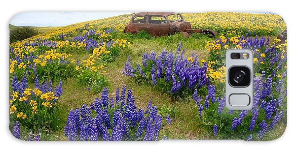 Columbia Hills Wildflowers Galaxy Case