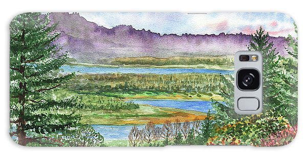 Outdoor Dining Galaxy Case - Columbia River Gorge State Of Washington Watercolor by Irina Sztukowski
