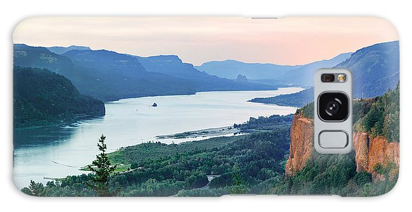 Columbia River With Vista House Galaxy Case