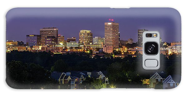Columbia Skyline At Twilight Galaxy Case