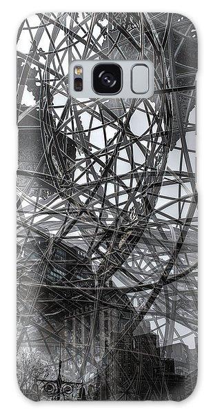 New York - Columbus Circle Globe -  Collage Galaxy Case by Dave Beckerman
