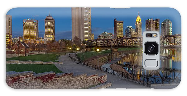 Columbus Ohio Skyline At Dusk Galaxy Case
