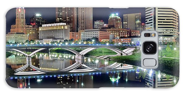 Columbus Over The Scioto Galaxy Case by Frozen in Time Fine Art Photography