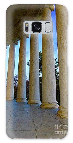 Columns At Jefferson Galaxy Case by Megan Cohen