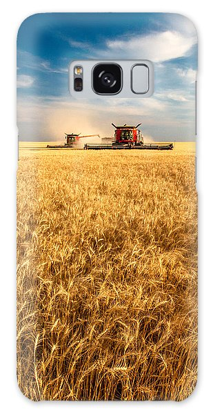 Combines Cutting Wheat Galaxy Case