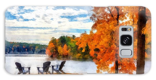 Adirondack Chair Galaxy Case - Come Sit For A While by Edward Fielding