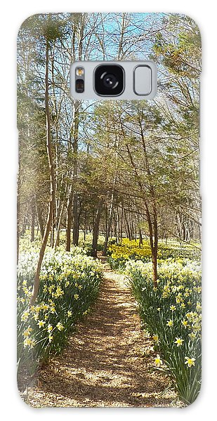 Come Walk Among The Daffodils Galaxy Case