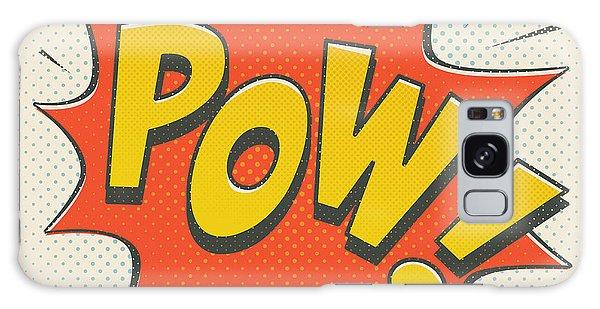 Superhero Galaxy Case - Comic Pow On Off White by Mitch Frey