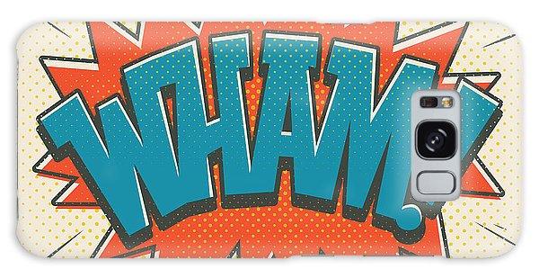 Superhero Galaxy Case - Comic Wham On White by Mitch Frey
