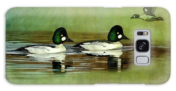 Sportsman Galaxy Case - Common Golden-eye Drakes With Flyer by John Williams