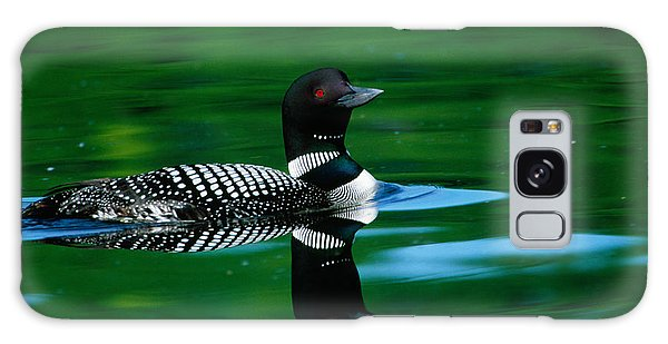 Common Loon In Water, Michigan, Usa Galaxy Case by Panoramic Images