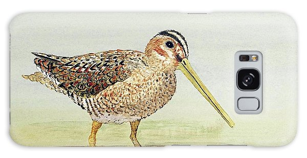 Common Snipe Wading Galaxy Case