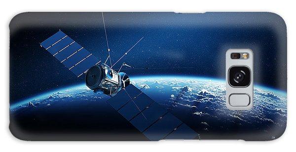 Earth Galaxy Case - Communications Satellite Orbiting Earth by Johan Swanepoel