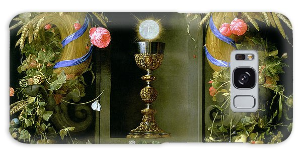 Communion Cup And Host Encircled With A Garland Of Fruit Galaxy Case