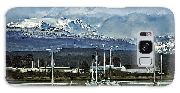 Comox Glacier Overlooking Comox Harbor Galaxy Case