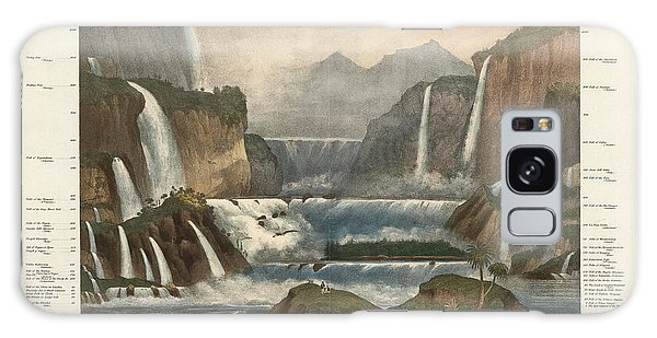 Waterfall Galaxy Case - Comparative Illustration Of The Waterfalls In The World - Antique Illustrated Atlas by Studio Grafiikka