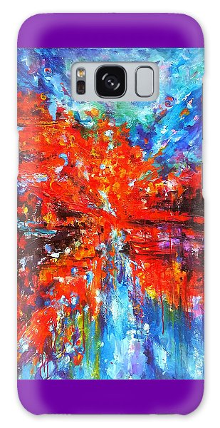 Composition # 2. Series Abstract Sunsets Galaxy Case