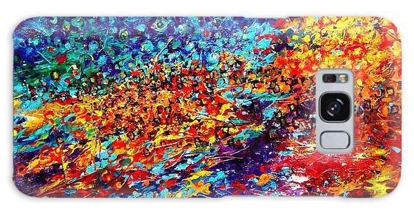 Composition # 5. Series Abstract Sunsets Galaxy Case