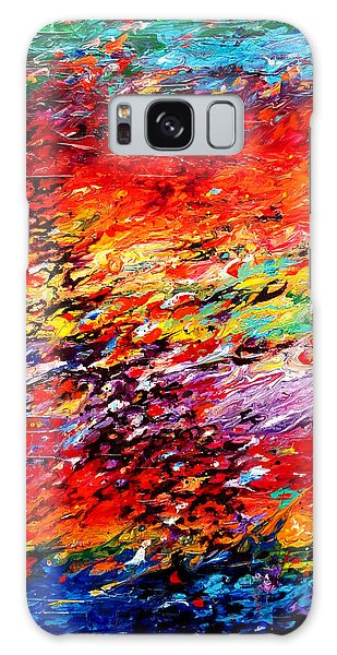 Composition # 6. Series Abstract Sunsets Galaxy Case
