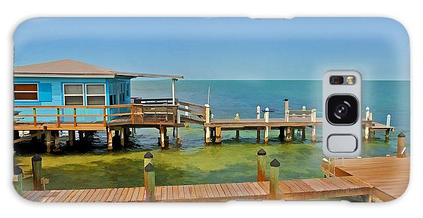 Conch Key Blue Cottage 3 Galaxy Case