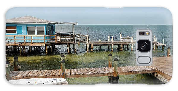 Conch Key Blue Cottage Galaxy Case