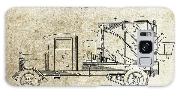 Old Truck Galaxy Case - Concrete Mixer Patent by Dan Sproul