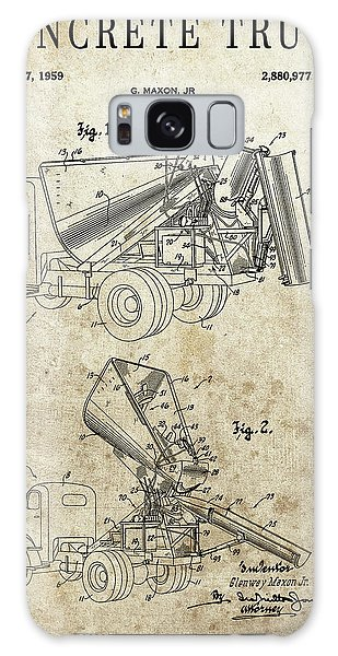 Old Truck Galaxy Case - Concrete Truck Patent by Dan Sproul