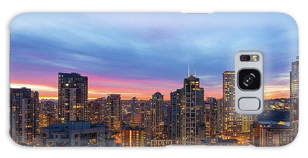 Condominium Buildings In Downtown Vancouver Bc At Sunrise Galaxy Case