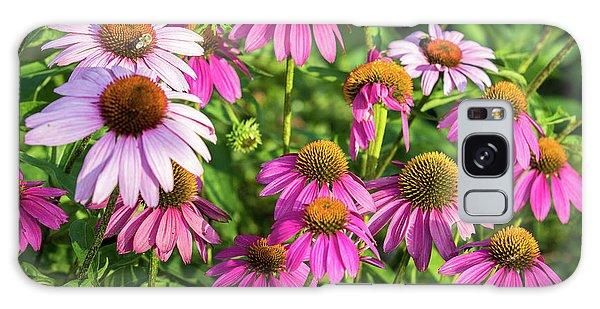 Coneflower Garden Galaxy Case by Eleanor Abramson