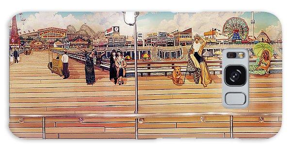 Coney Island Boardwalk Galaxy Case by Bonnie Siracusa