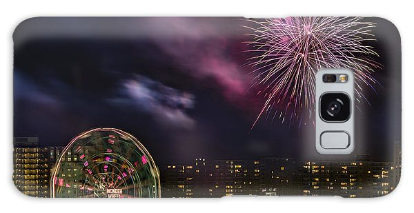 Galaxy Case featuring the photograph Coney Island Fireworks by Susan Candelario