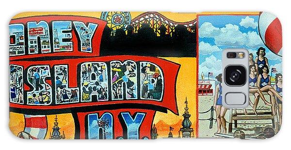 Coney Island New York Galaxy Case by Bonnie Siracusa