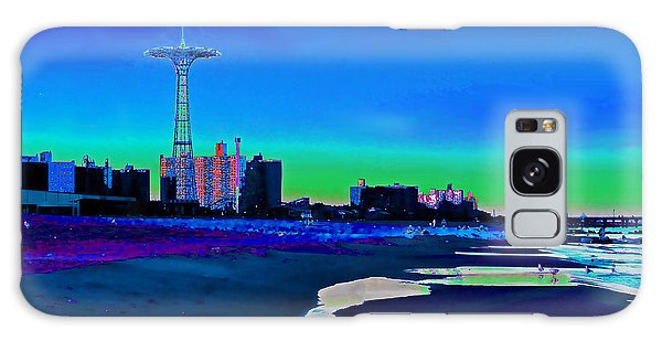 Coney Island Parachute Jump And Beach Galaxy Case