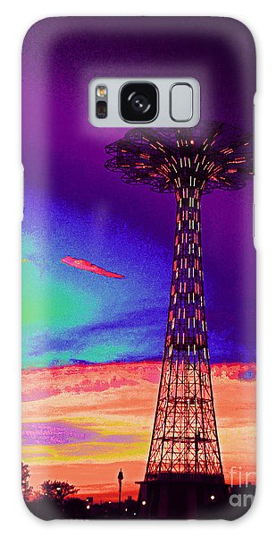 Coney Islands Parachute Jump Galaxy Case