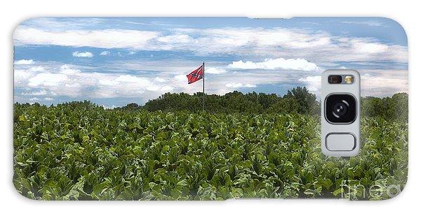 Confederate Flag In Tobacco Field Galaxy Case