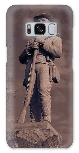 Confederate Statue  Standing Guard Galaxy Case