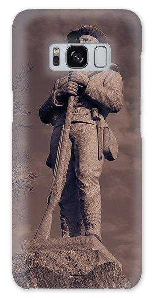 Confederate Statue  Standing Guard Galaxy Case