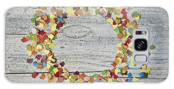 Round Galaxy Case - Confetti Circle by Nailia Schwarz