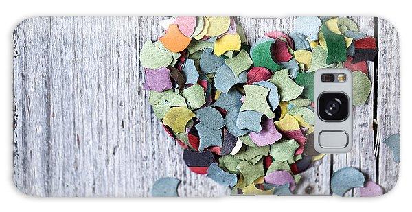 Heart Galaxy Case - Confetti Heart by Nailia Schwarz