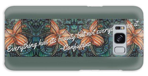 Confucius Beauty  Galaxy Case