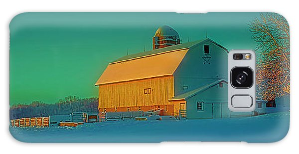 Conley Rd White Barn Galaxy Case