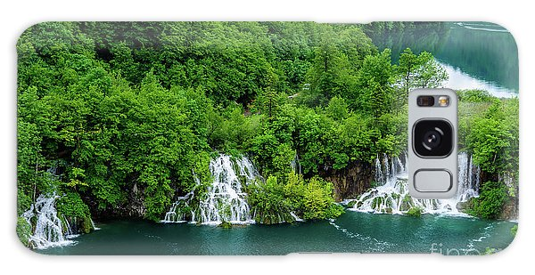 Connected By Waterfalls - Plitvice Lakes National Park, Croatia Galaxy Case