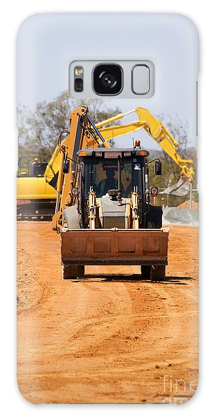 Excavator Galaxy Case - Construction Digger by Jorgo Photography - Wall Art Gallery