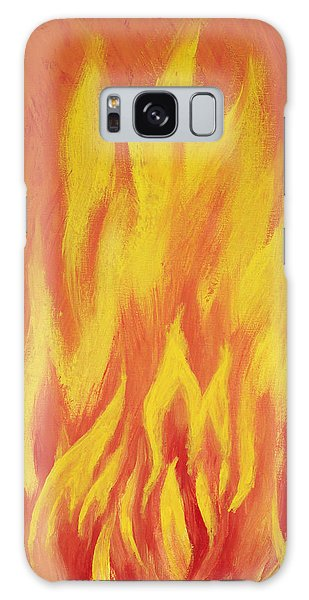 Galaxy Case featuring the painting Consuming Fire by Antonio Romero