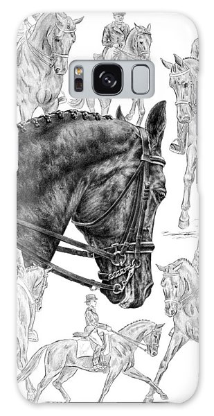 Contemplating Collection - Dressage Horse Drawing Galaxy Case