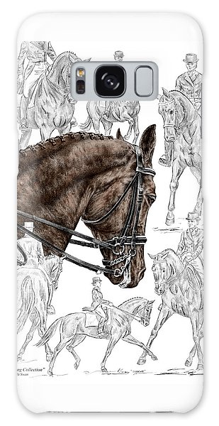 Contemplating Collection - Dressage Horse Print Color Tinted Galaxy Case by Kelli Swan